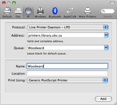 generic postscript printer